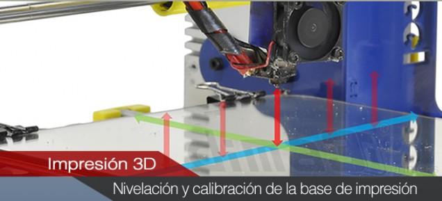 Nivelación y calibración de la base de impresión